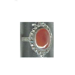 Sterling Silver Marcasite & Red Agate Ring Everything