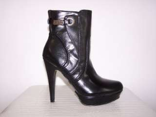 NIB New GUESS Black HAVILY Platform Ankle Boots Shoes
