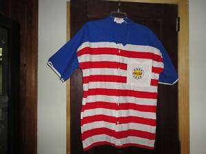 Vintage Coca Cola Shirt Used Red White Blue USA