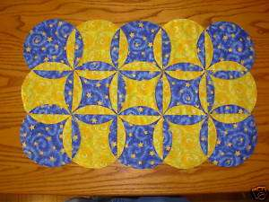 Orange Peel Placemat & Table Runner Quilting Pattern