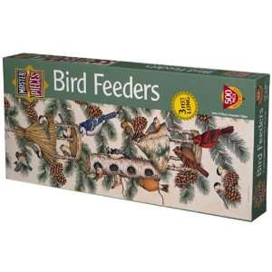 Bird Feeders Panoramic Jigsaw Puzzle 500pc Toys & Games