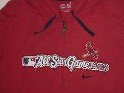 NIKE ST LOUIS CARDINALS ALL STAR GAME ZIP HOOD SHIRT S