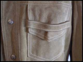 60s Mens California Sportswear Suede Leather Jacket 40
