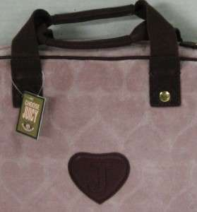 JUICY COUTURE VELOUR HEART JACQUARD LAPTOP CASE ~ TATTERED PINK ~ NWT