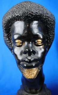 & Women Bust Statues 1960s African American Black Power Afro