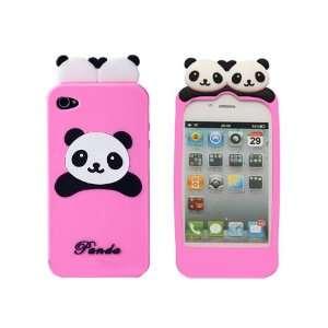 Ecomgear® Cute Panda Soft Silicon Back Case Cover Skin
