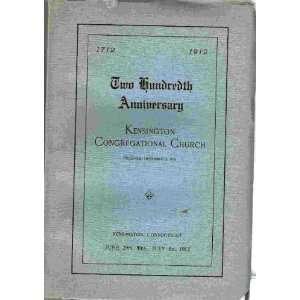 Church, 1712 1912: Kensington (CT) Congregational Church: Books