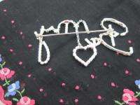 BE MY VALENTINE HEART Crystal Rhinestone Pin Brooch