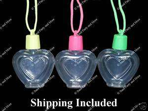 12 Heart Sand Art Necklace Craft Supplies Bottles |