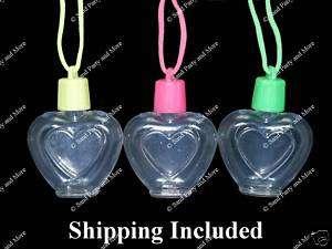 12 Heart Sand Art Necklace Craft Supplies Bottles