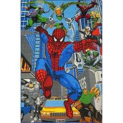 Kids Blue Spider man Area Rug (5 x 3)