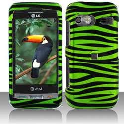 Snap on LG VU PLUS GR700 Black/ Green Zebra Case