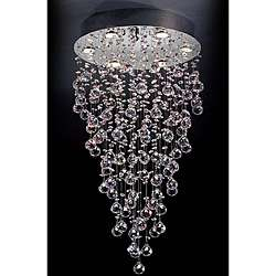 Crystal Glass Accent 6 light Pendant Lamp