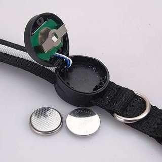 lights 2 mode adjustable lockable nylon dog collar 1 6 led red lights
