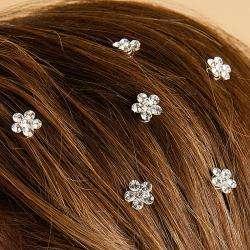 Bow Clippeez 2 Envy Prom or Wedding Austrian Crystal Hair Spirals