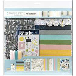 American Crafts Baby 12X12 Scrapbook Page Kit