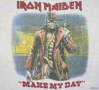 IRON MAIDEN Vintage Concert SHIRT 80s TOUR T RARE ORIGINAL 1986