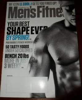 MENS FITNESS MAGAZINE MARCH 2011 LL COOL J NEW