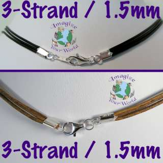 Custom MULTI STRAND 1.5mm Leather Cord Necklace COLORS