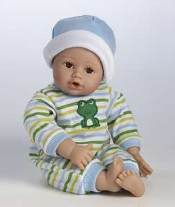 14 Brown Eyes Light Skintone Vinyl Baby Boy Doll 010475209365