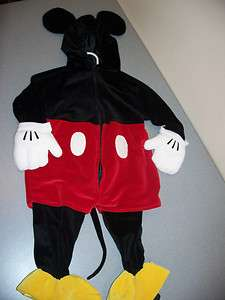 MICKEY MOUSE Costume TODDLER BABY 18 24 M HALLOWEEN PLUSH GIRL BOY