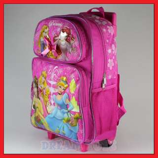 16 Disney Princess Tangled Rolling Backpack Roller Bag