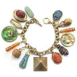 Sweet Romance Tut Tut Tut Egyptian Charm Bracelet