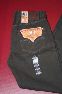 NWT NEW MENS LEVIS 501 BUTTON FLY JEANS SIZE 34X30 #1035