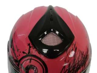 PINK HORNET FULL FACE MOTORCYCLE HELMET SPORT BIKE ~M