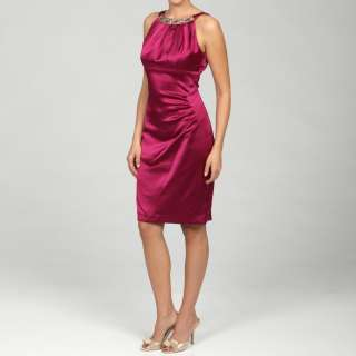 Evan Picone Womens Spiceberry Bead embellished Dress