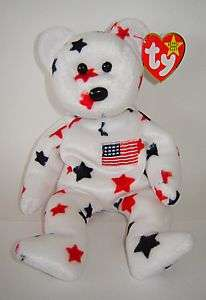 TY ORIGINAL BEANIE BABY COLLECTION GLORY USA STARS BEAR