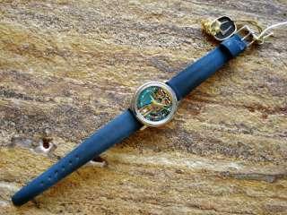 NOS Bulova Accutron 214 Yellow Dot Spaceview Wrist Watch Box