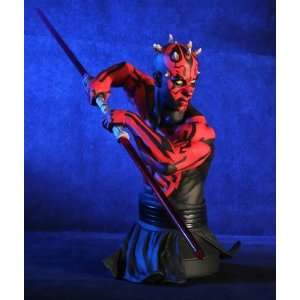 Star Wars Darth Maul with Lightsaber Bust Toys & Games