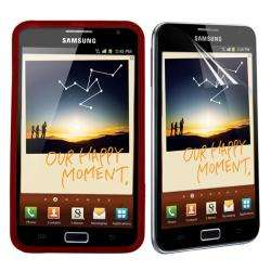 Premium Samsung Galaxy Note Red TPU Case/ Screen Protector