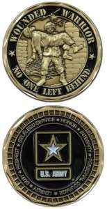 NEW MILITARY CHALLENGE COIN WOUNDED WARRIOR US ARMY