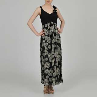 Signature by Robbie Bee Womens Printed Maxi Dress
