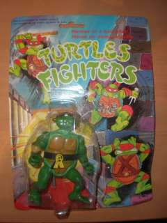 VINTAGE 80S TMNT TURTLES FIGHTERS RAPH RAPHAEL BROWN MOC RARE