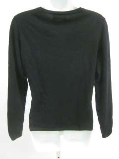 You are bidding on a PEARLS & CASHMERE Black Cashmere Vneck Sweater