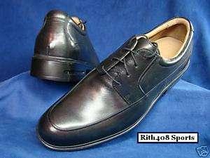 ROCKPORT ROHART BLACK LEATHER Dress Shoes Sz 8 M NEW