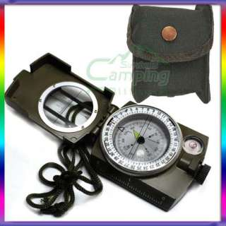 New Pocket Olive Drab Military Lensatic Hiking Camping Compass