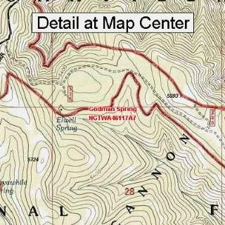 USGS Topographic Quadrangle Map   Godman Spring
