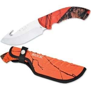 Buck Omni Hunter 4 Fixed Blade with Gut Hook, Mossy Oak Blaze Camo