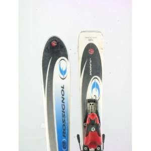 Used Rossignol Jr Edge Kids Snow Skis with Rossignol Comp