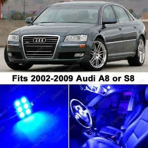 Audi A8 S8 BLUE LED Lights Interior Package Kit D3 (12