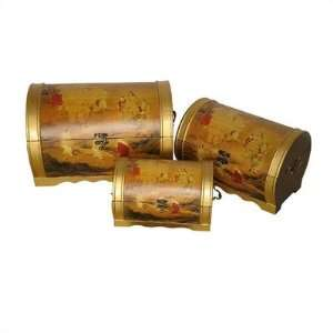 Elephant Magic Oriental Storage Boxes: Furniture & Decor