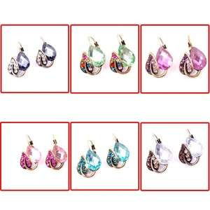 Fashion Beautiful Charm Party Teardrop Shape Crystal Resin Stud