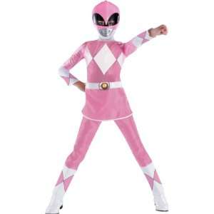Deluxe Pink Kids Power Rangers Costume: Toys & Games
