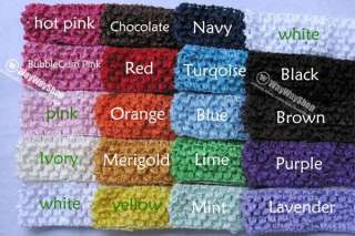 12 Pcs Crochet Hair bow Headband Baby Toddler Kids G