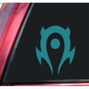 World of Warcraft Horde Vinyl Decal Sticker   Teal