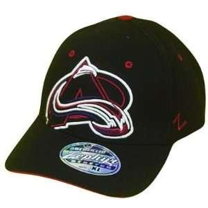 NHL COLORADO AVALANCHE BLACK FLEX FIT XL ZEPHYR HAT CAP